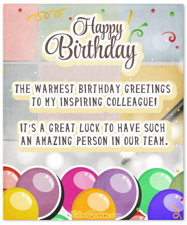 33 Heartfelt Birthday Wishes For Colleagues – WishesQuotes