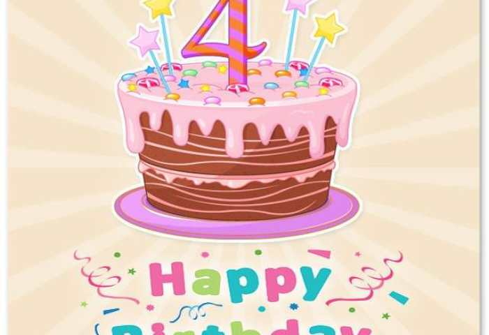 Happy 4th Birthday Wishes For 4 Year Old Boy Or Girl