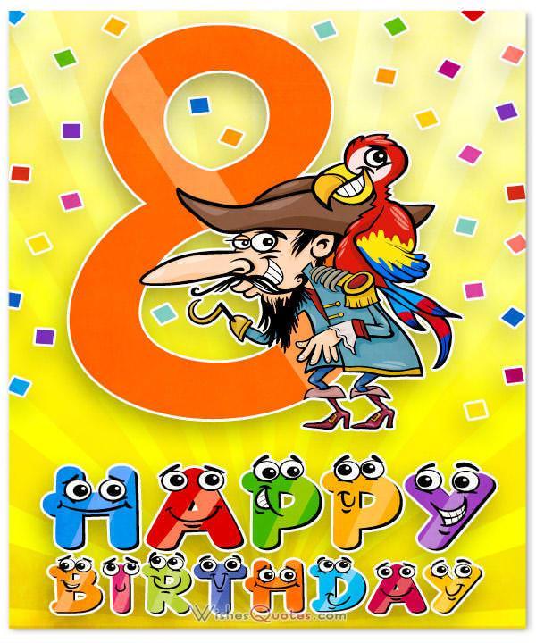 Happy Birthday Wishes 8 Year Old Boy
