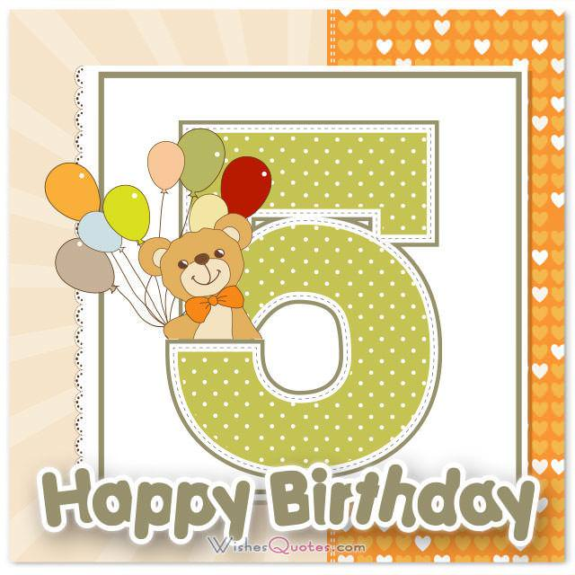 Happy Birthday Wishes 5 Year
