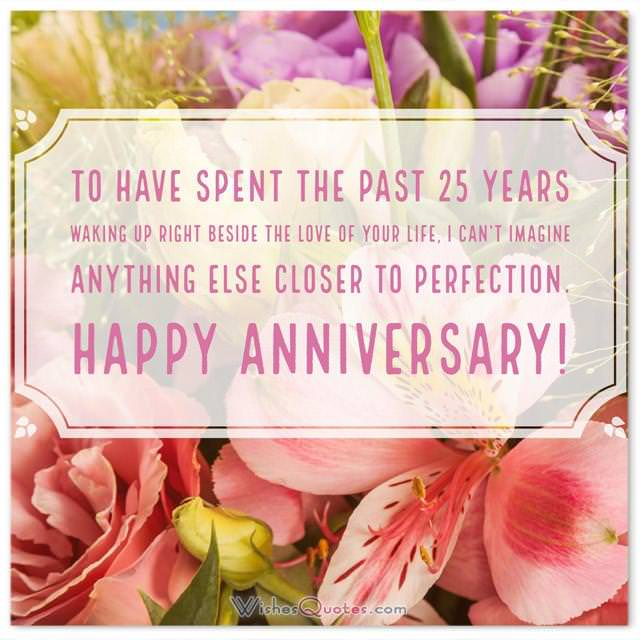 25th Year Wedding Anniversary Quotes