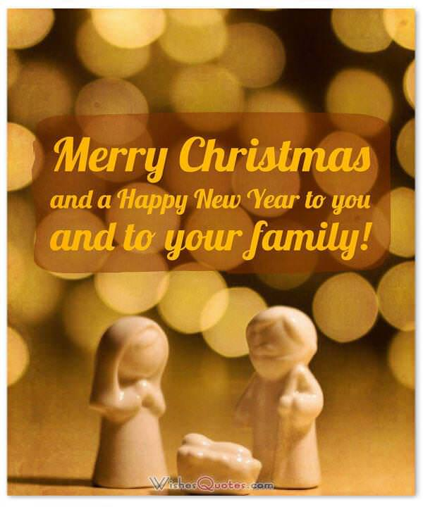 Christmas Wishes: Merry Christmas and a Happy New Year to you and to your family!