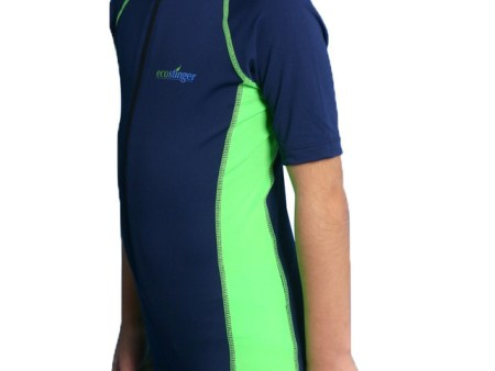 Sun and UV protective suit for boys with short sleeves