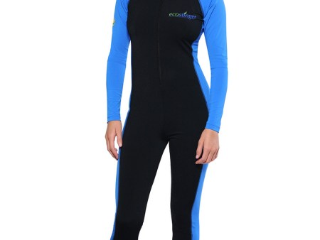 Ladies Full Body UV Stinger Swimsuit Plus Size UPF50+ Black Blue Chlorine Resistant