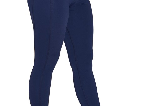 Ladies Sun Protection Swim Tights Full Leggings Length UPF50+ Navy Chlorine Resistant