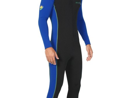 Mens Full Body Swimsuit Dive Skin UPF50+ Black Royal Lime Chlorine Resistant