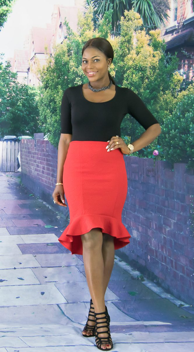 peplum hem pencil skirt-wishfulelegance-9