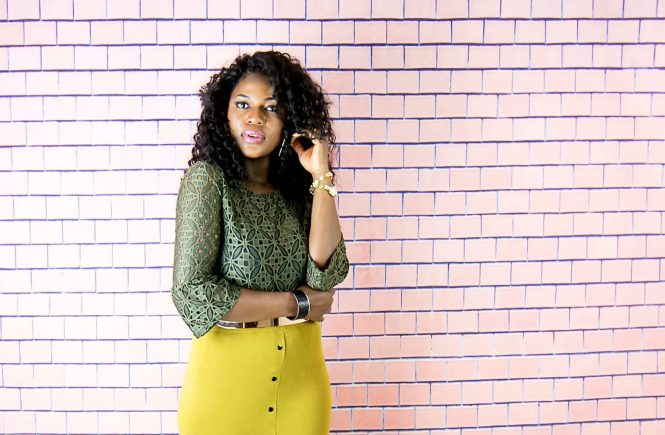 autumn midi skirt