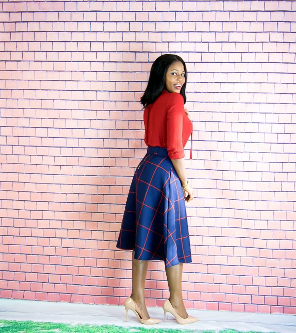 chicwish midi skirt