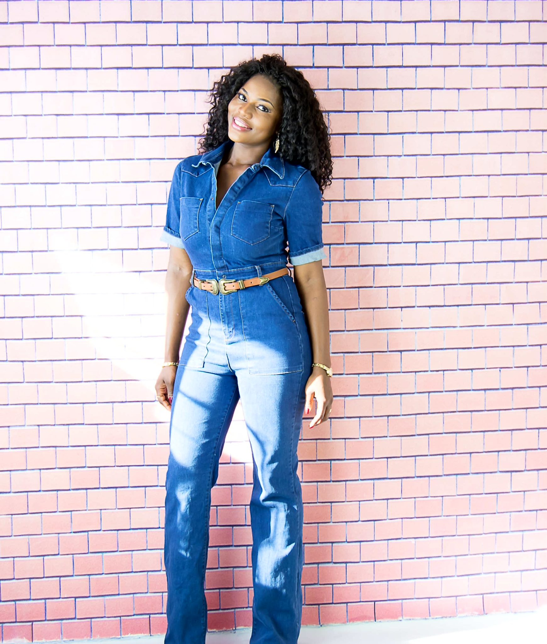 All-in-one Denim jumpsuit - WishfulElegance