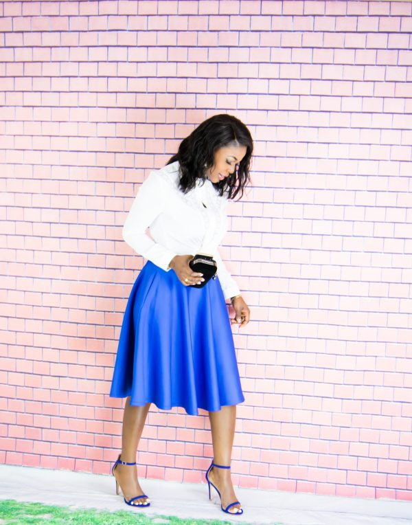 full circle midi skirt