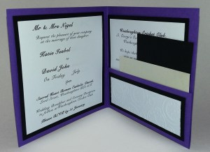 Bespoke Wedding Invitation Interior
