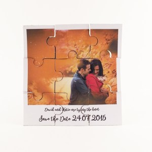 Polaroid style magnetic jigsaw save the card cards now available to purchase in our shop.