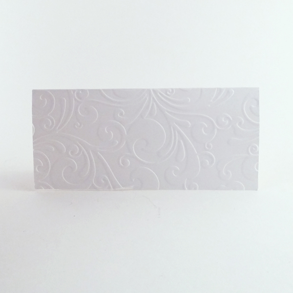Handmade embossed place cards now available in our shop.
