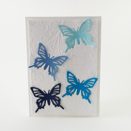 Handmade butterfly card with embossing.