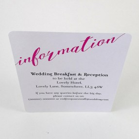 Foiled wedding stationery set now available to purchase in our shop