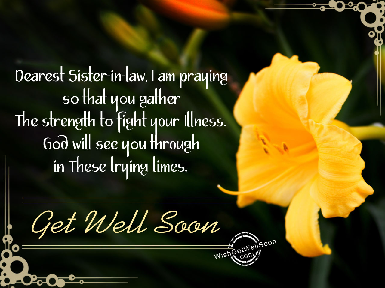 Sister Get Well Prayers Soon