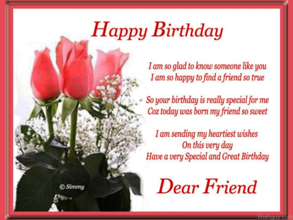 Birthday Wishes For Friend Wishes Greetings Pictures