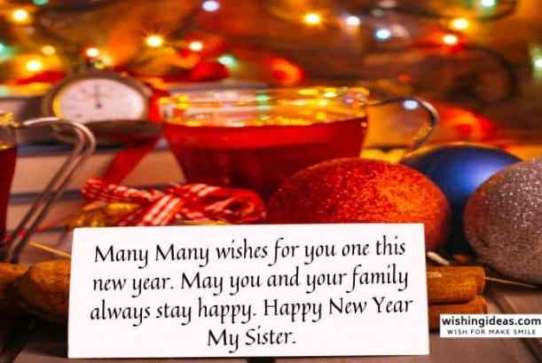 Happy New Year Images for sister