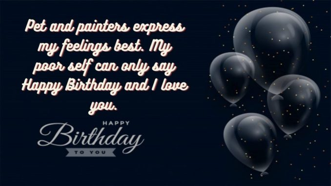 happy birthday message for him