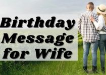 Birthday Message for Wife