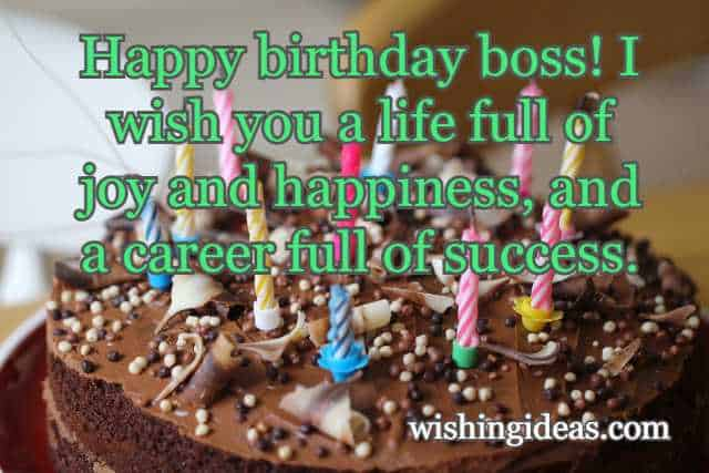 Happy Birthday Wishes to Boss