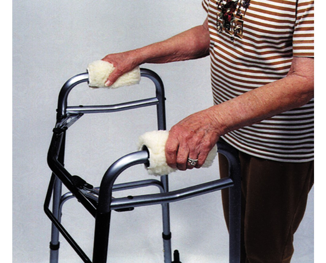 wheelchair grips teak dining chair walker accessories los angeles glides baskets