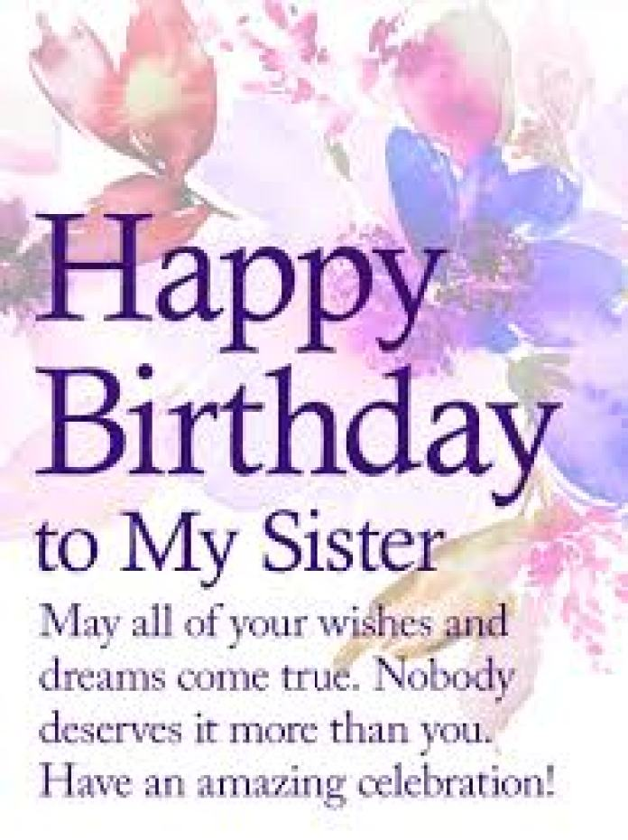 Happy Birthday Quotes for  sister