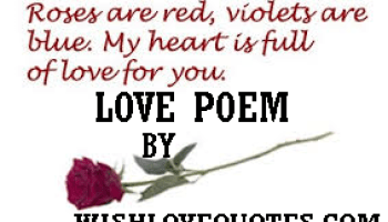 Your girlfriend poems for short love sweet 55 Best
