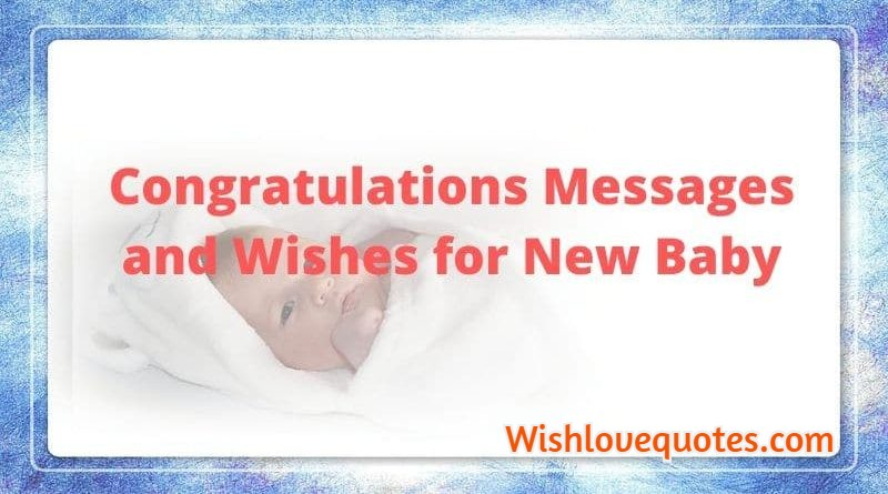 congratulations message for new baby