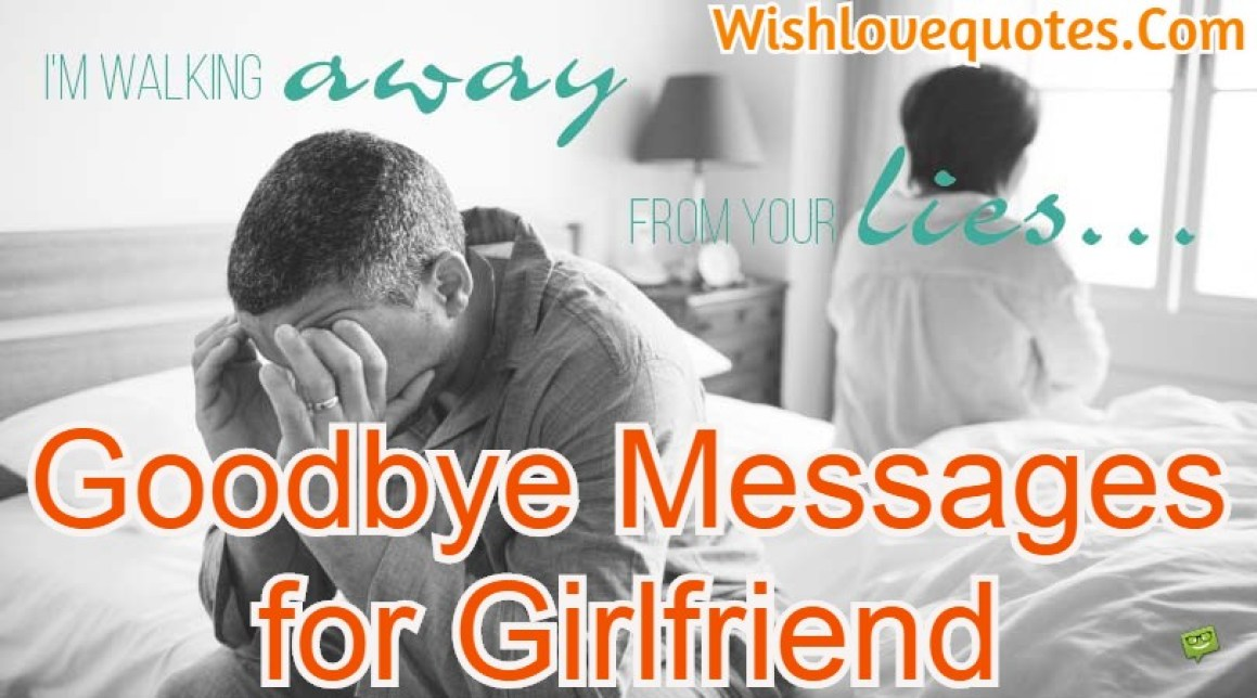 Goodbye Messages for Girlfriend