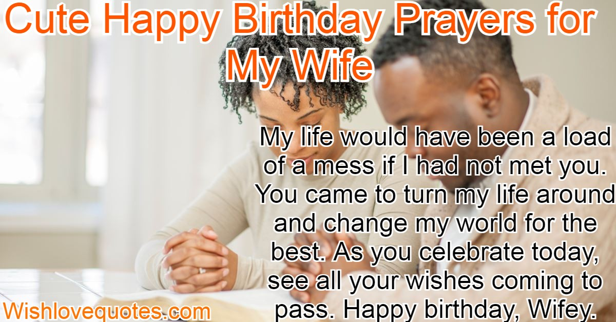 Birthday Prayers for My Wife