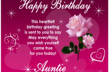 Birthday Wishes for my Aunt