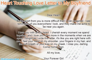 Letter to My Boyfriend