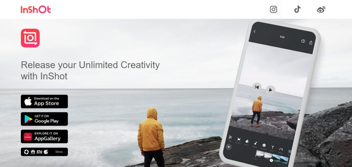 Inshot IGTV app Twin Front