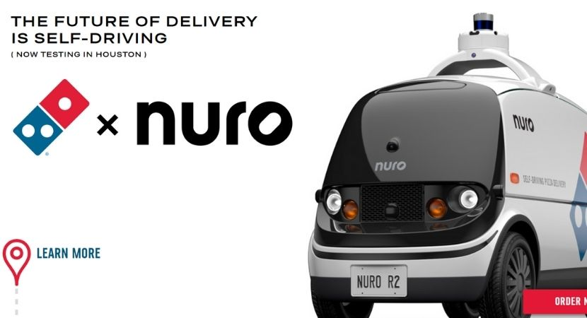 La pizza autonome de Domino