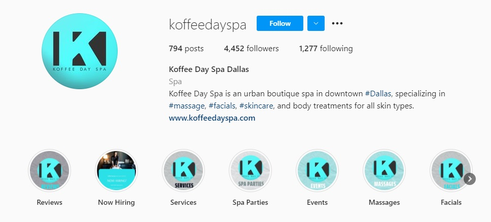 Koffee Day Spa Story Highlights