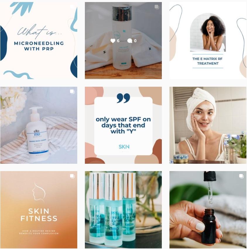 SKIN Medical Spa Consistent Instagram