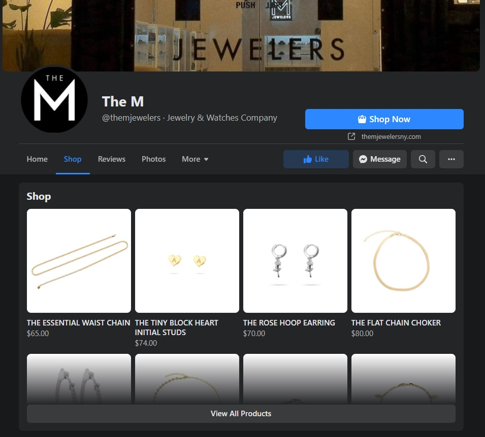 The M Jewelers Facebook Shop
