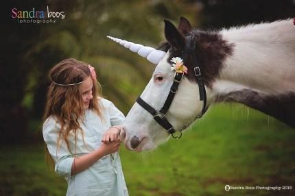 Contoured Natural-Look Unicorn Horn™ - Photo © Sandra Boos Photography