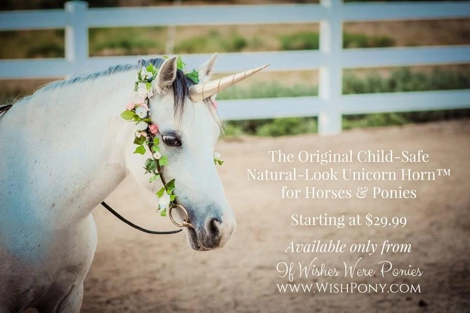 The Original Classic Natural-Look Unicorn Horn for Horses & Ponies