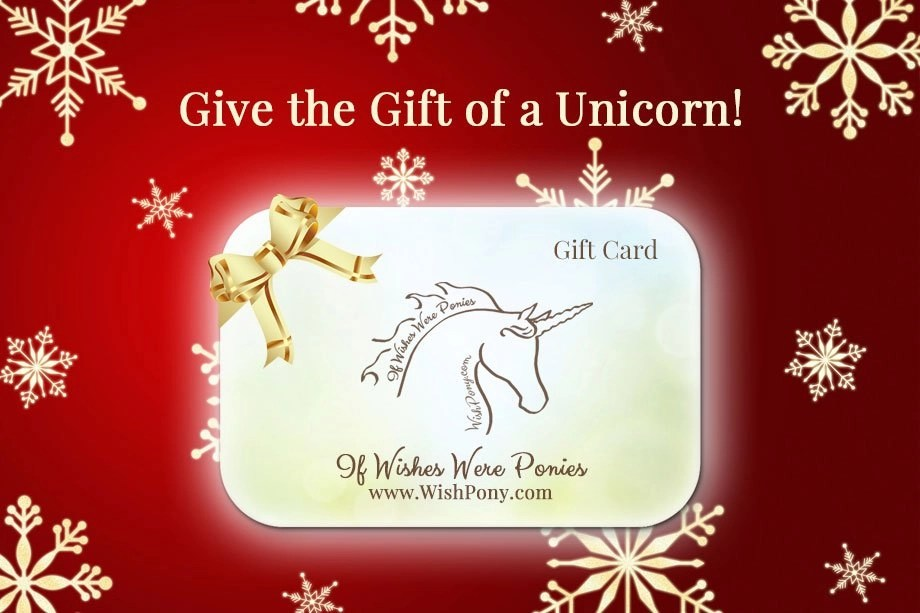 Give the Gift of a Unicorn this Christmas with a WishPony Gift Card!