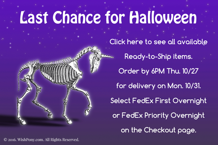 Last Chance to Order for Halloween 2016