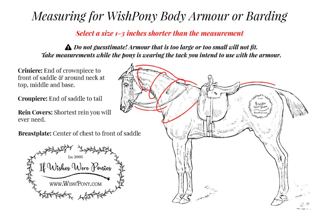 WishPony Horse Pony Armour Measurements