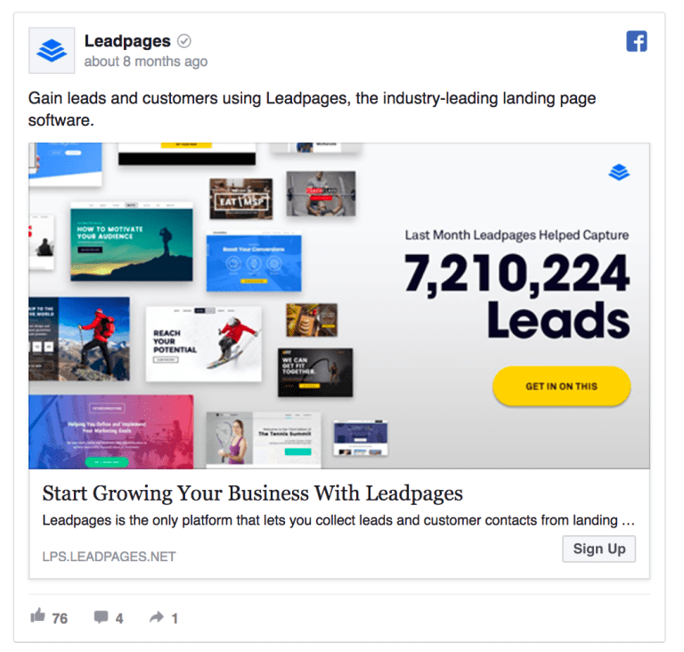 Leadpages ad