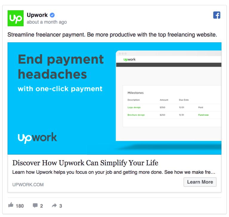 Upwork ad