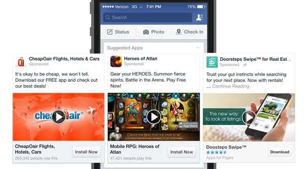 mobile app ad facebook