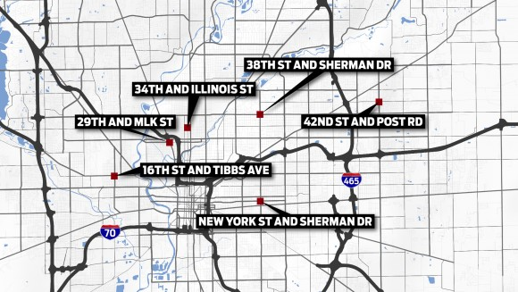 Key Crime Intersections in Indianapolis_136941