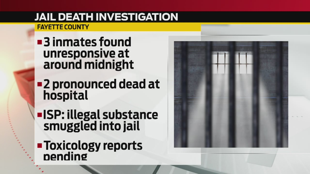 ISP investigating 2 inmate deaths at Fayette County jail