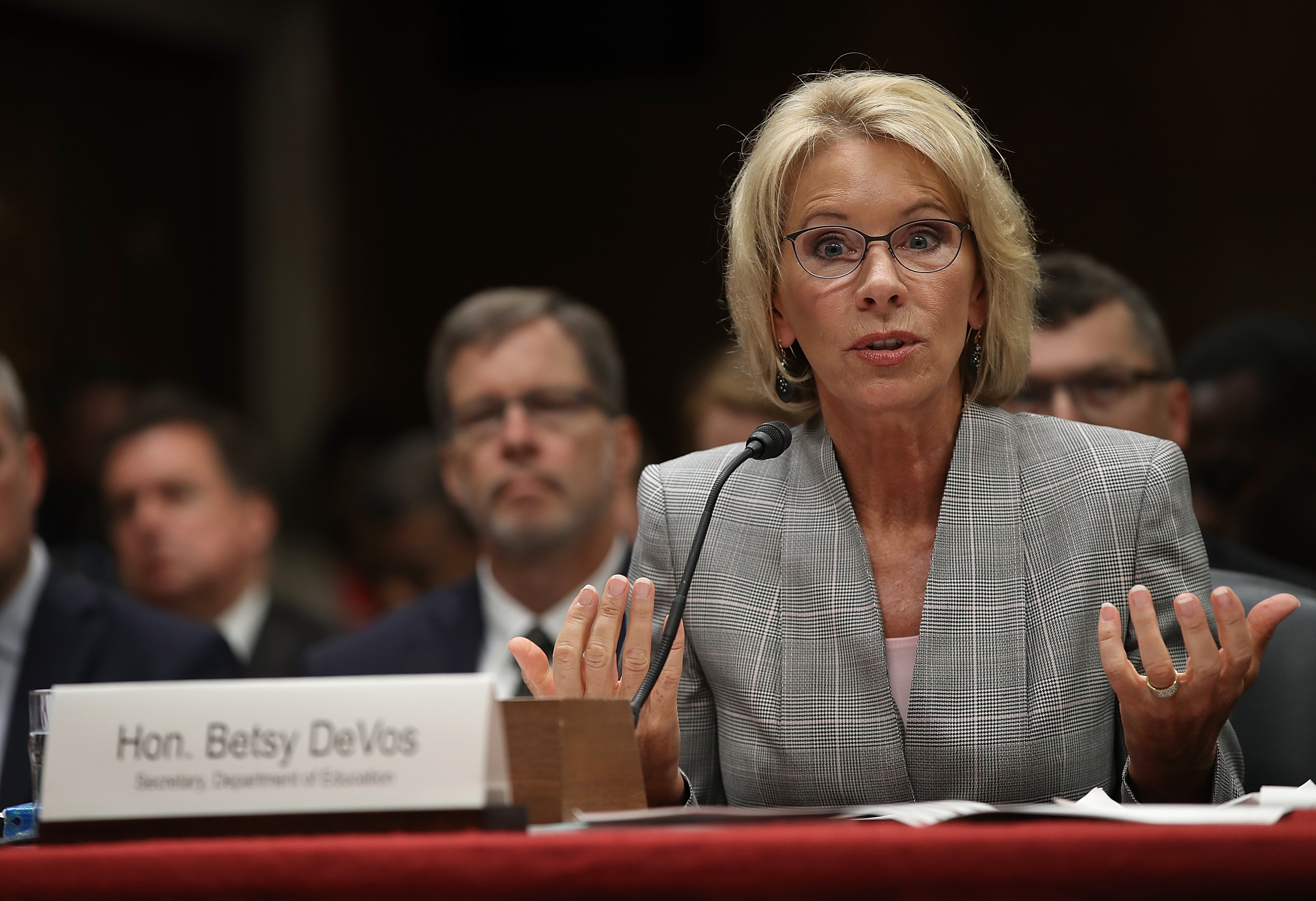Education Secretary Betsy DeVos Testifies To Senate Hearing On Budget Of Department_718263